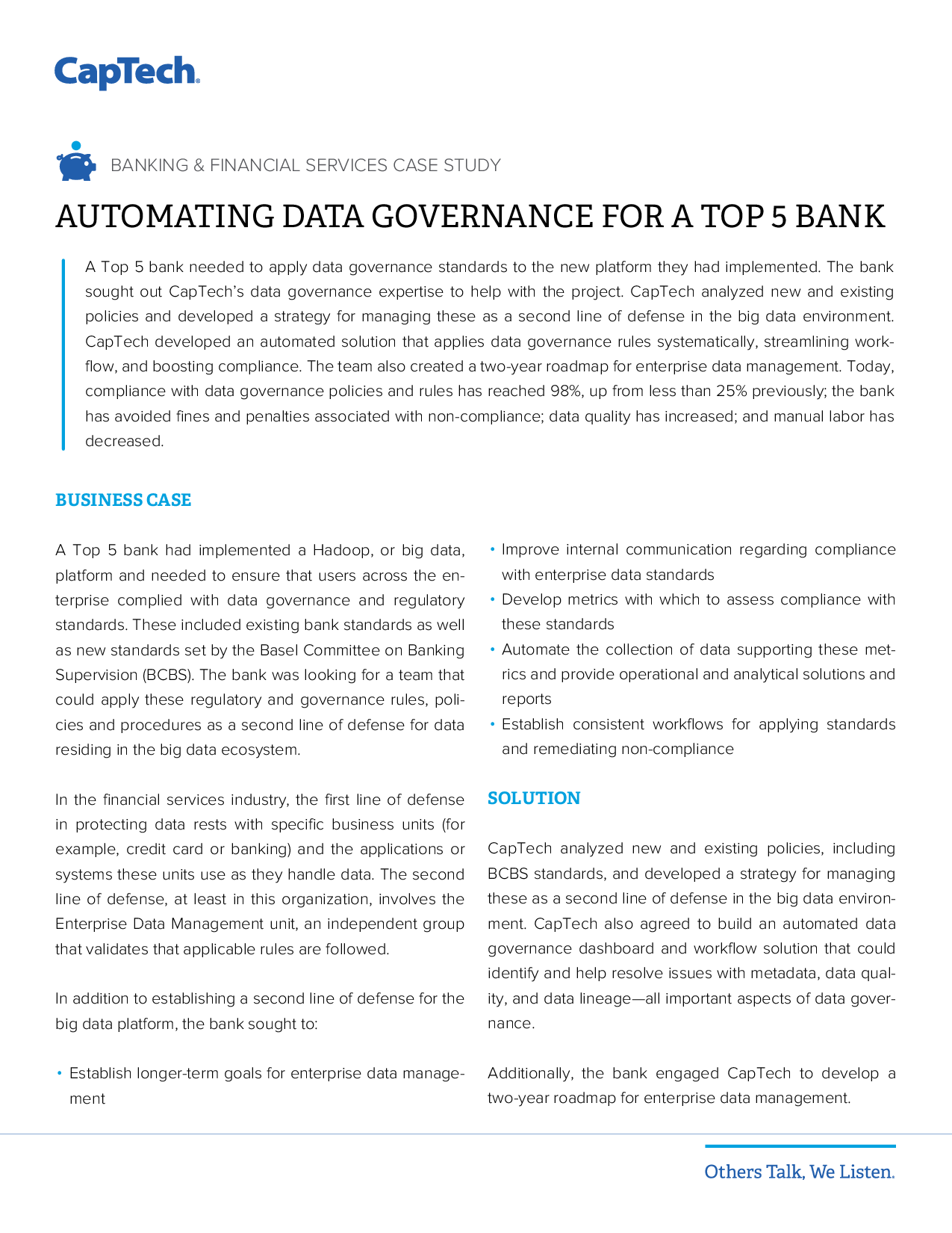 Automating Data Governance For A Top 5 Bank