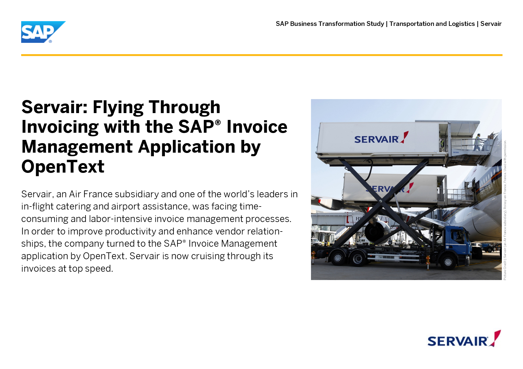 Servair Flying Through Invoicing With The SAP Invoice Manag - Open text invoice management