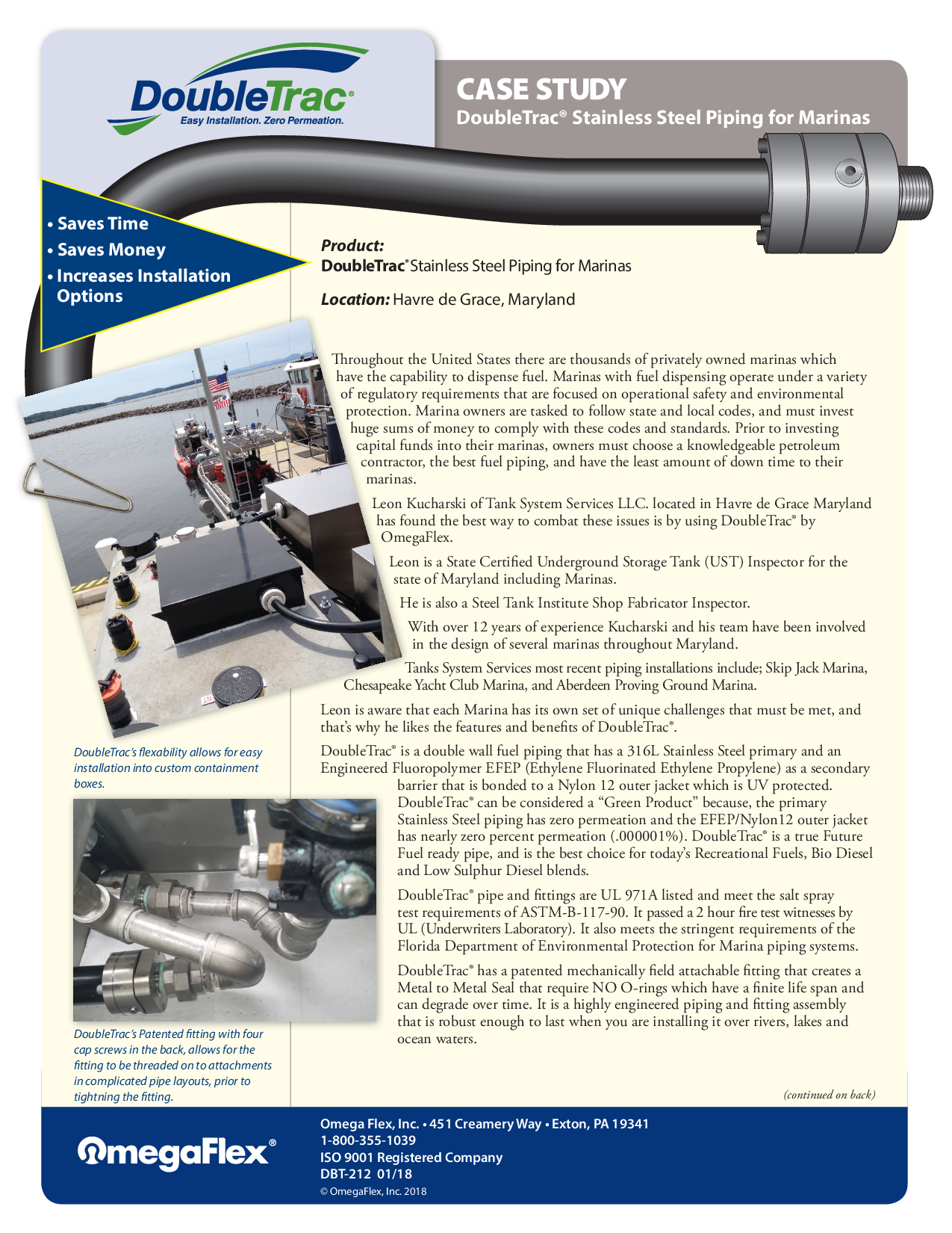 Stainless Steel Piping for Marinas