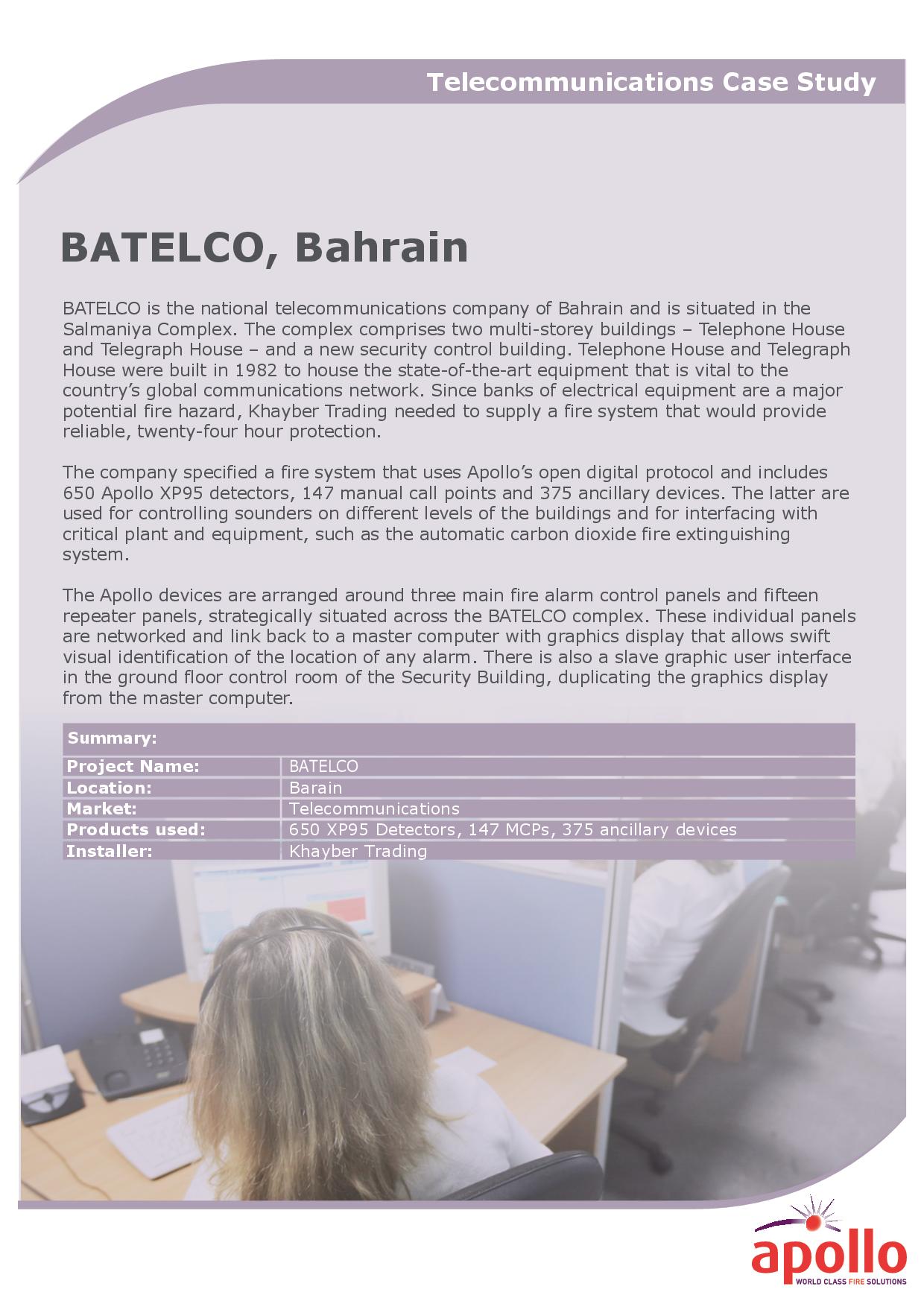 BATELCO, Bahrain