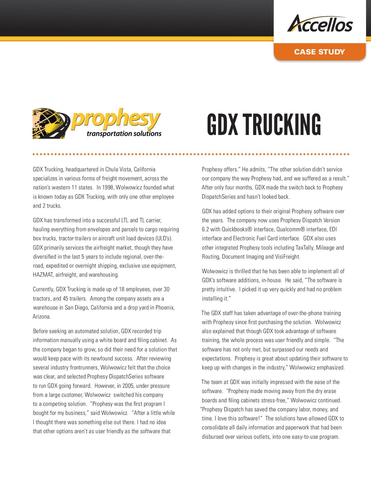 GDX Trucking