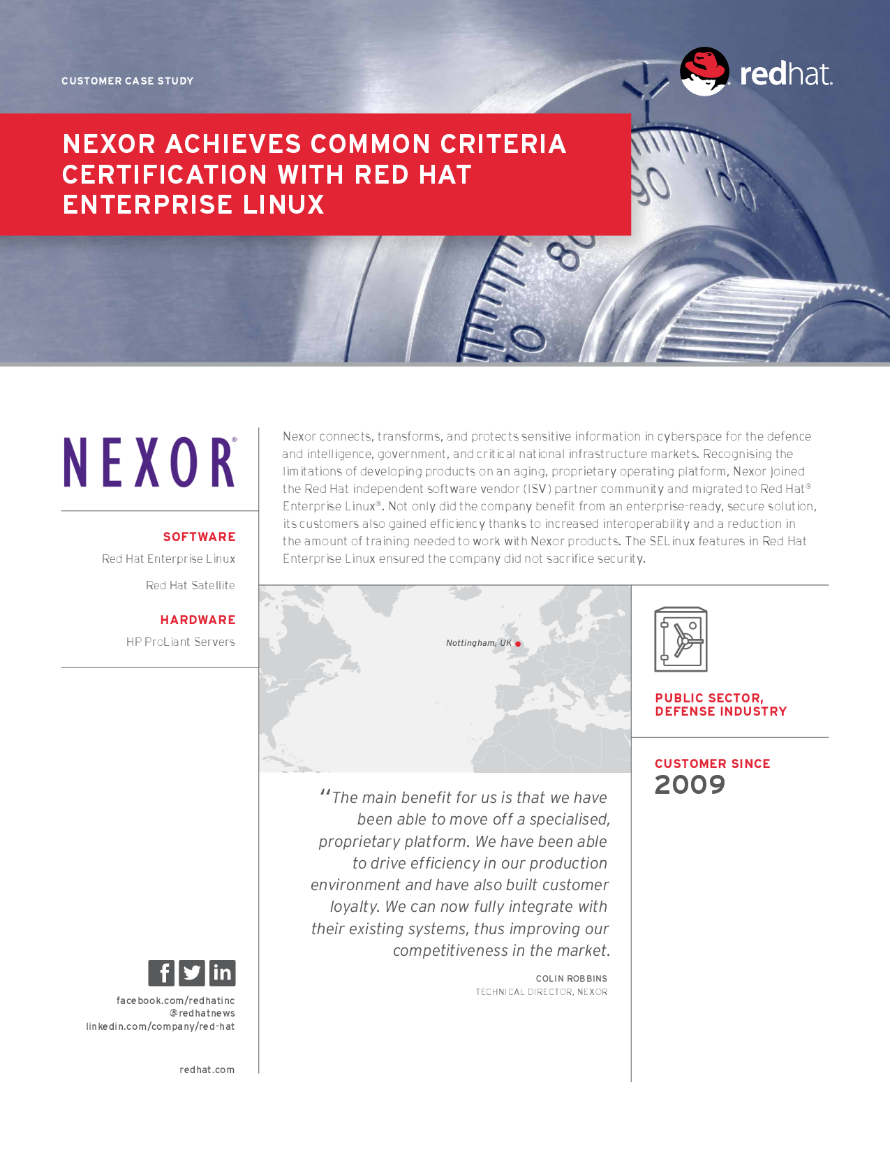 Nexor Achieves Common Criteria Certification With Red Hat En