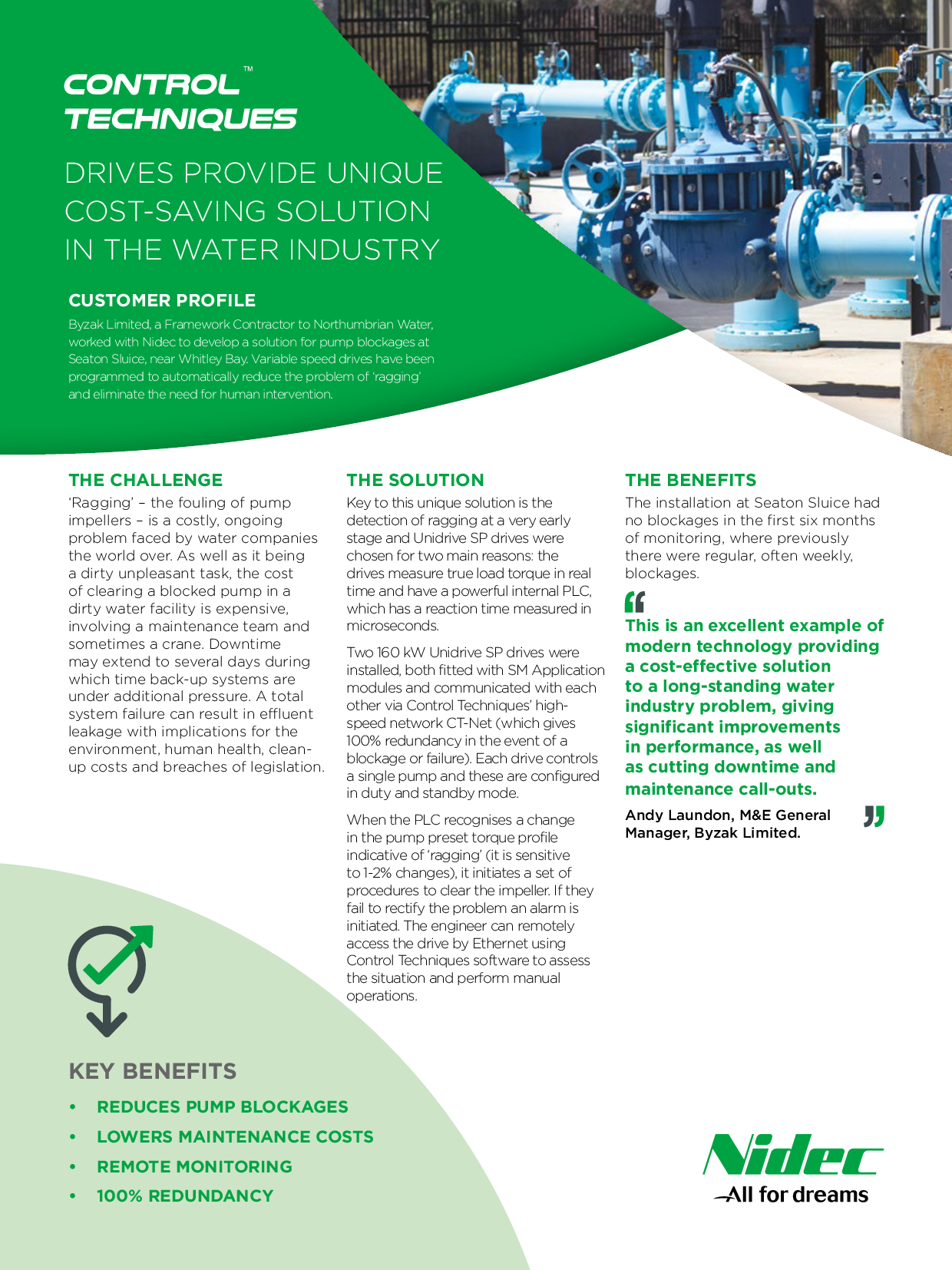 Drives Provide Unique Cost-Saving Solution In The Water Indu