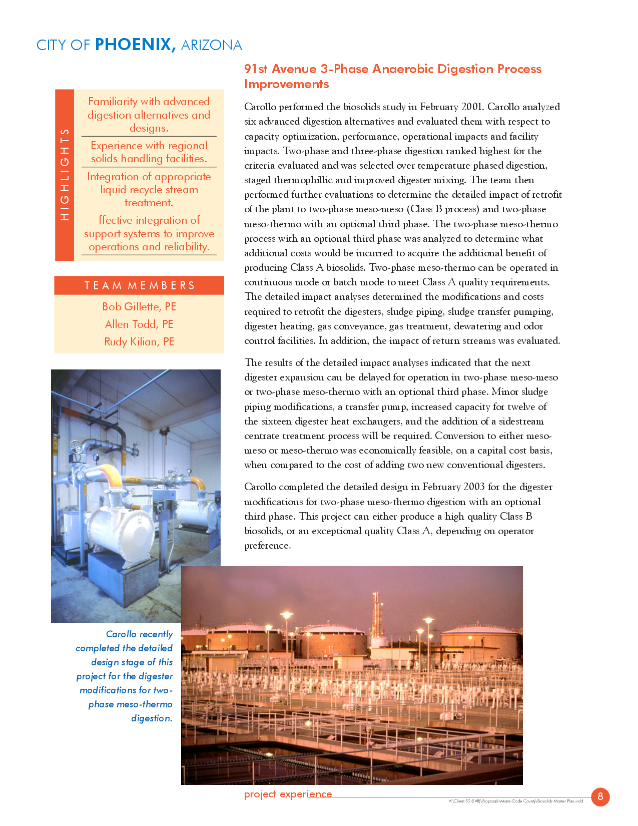 Phoenix Az 3 Phase Anaerobic Digestion Process Improvemen