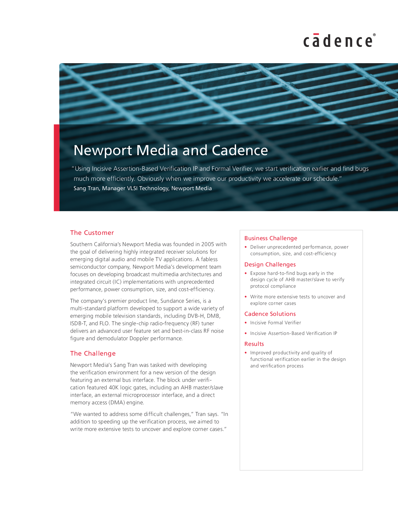 Newport Media And Cadence Integrated Circuit Looks Like A Bug 5278acd2 7788 4306 A0ae C1c07201cbbb