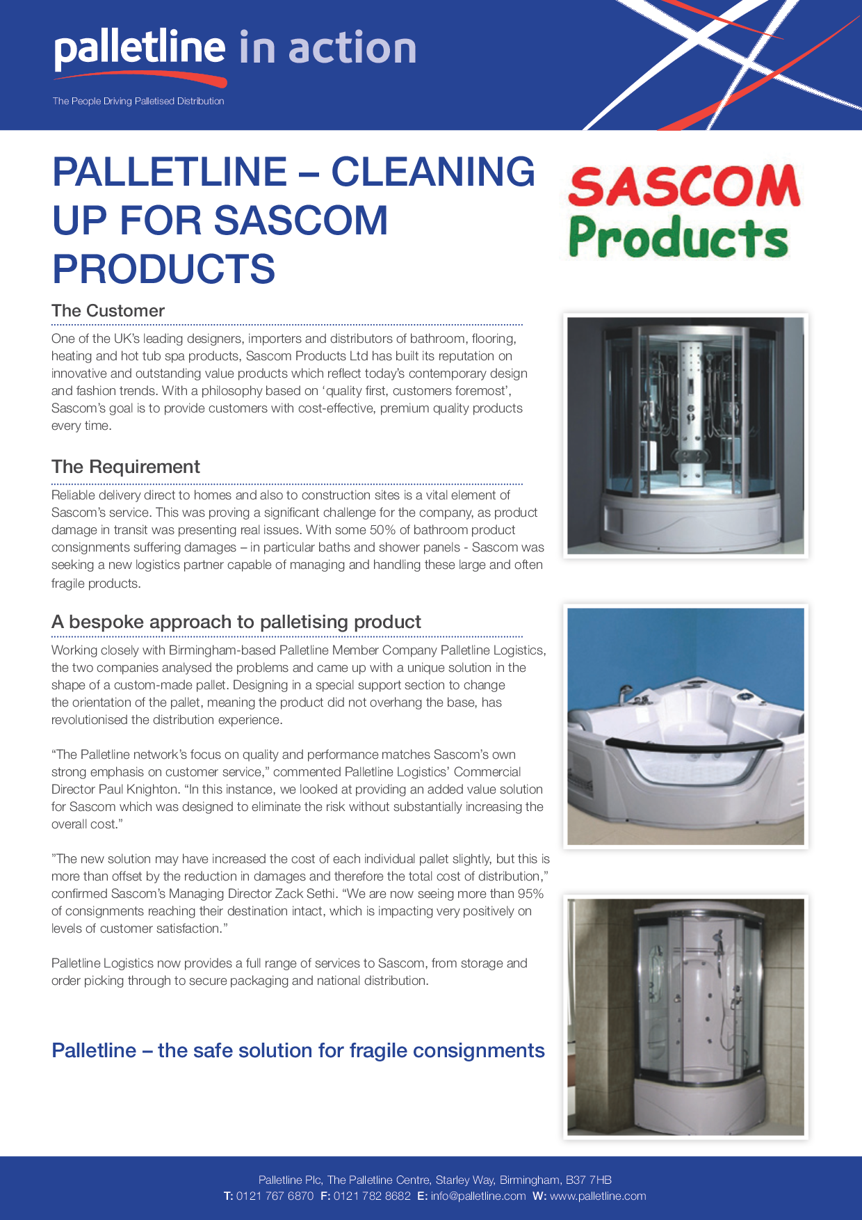 Palletline – Cleaning Up For Sascom Products