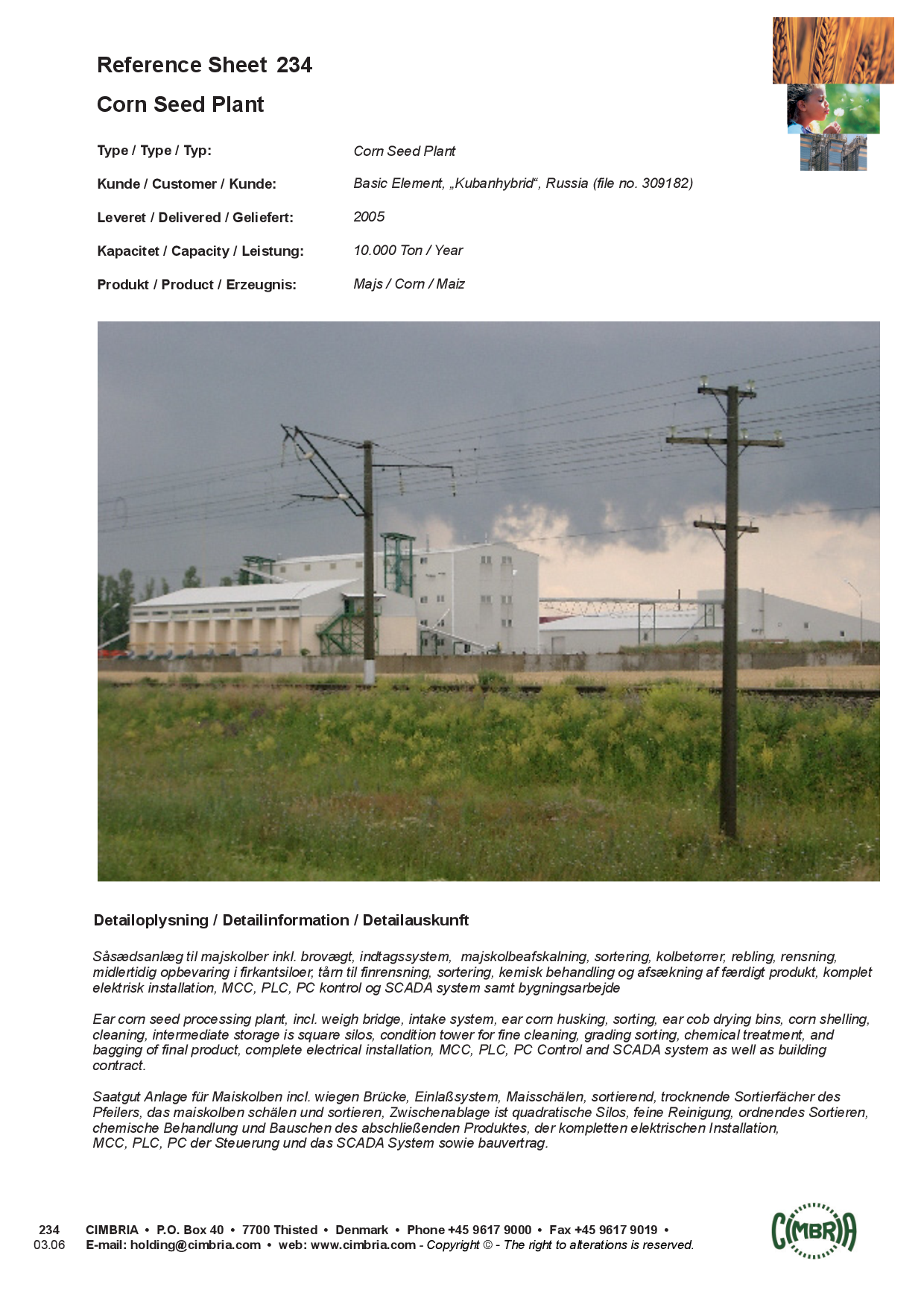 Reference Sheet 234 Corn Seed Plant