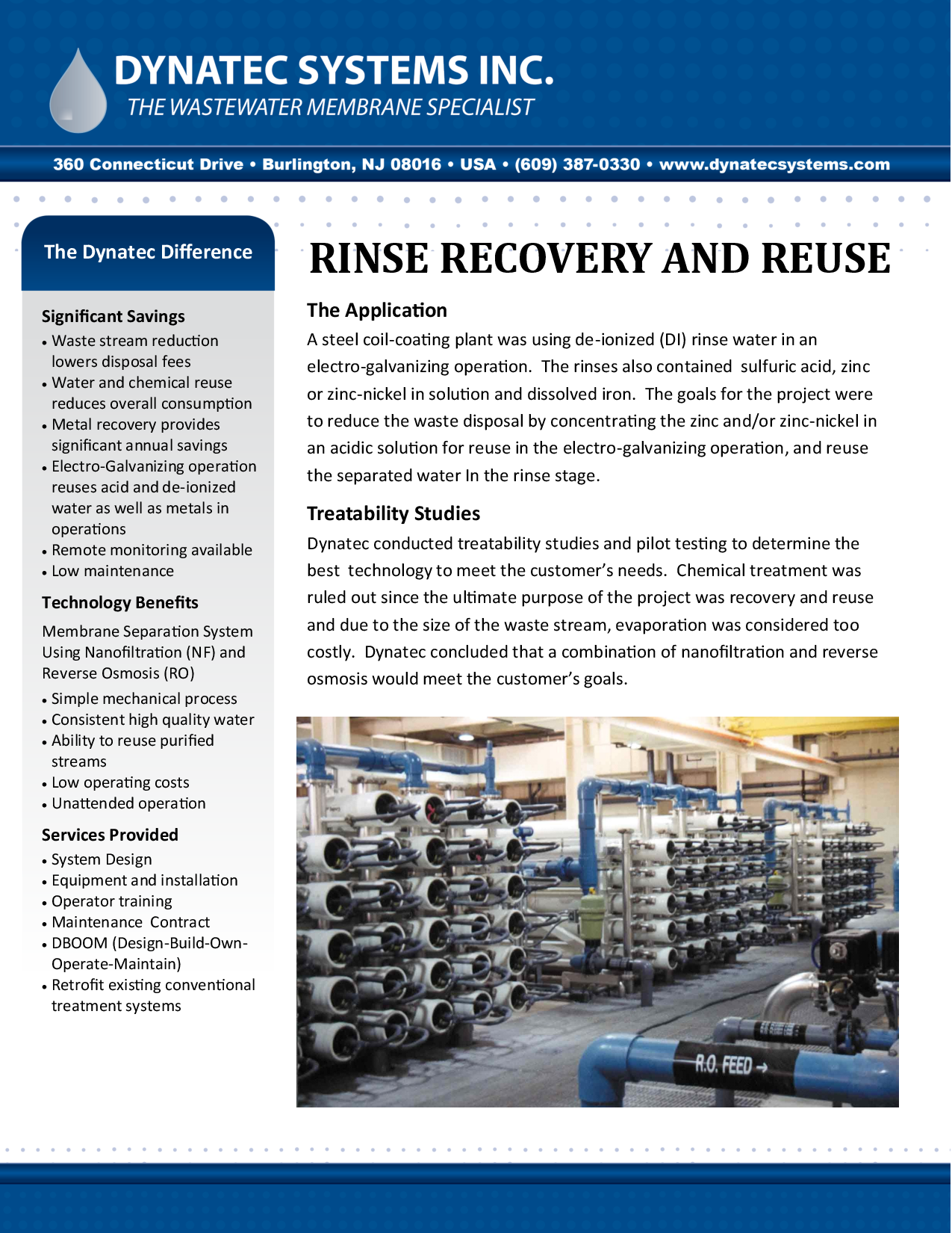 Rinse Recovery And Reuse