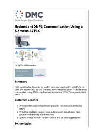 Serial Communication with a Siemens S7- 1200 PLC