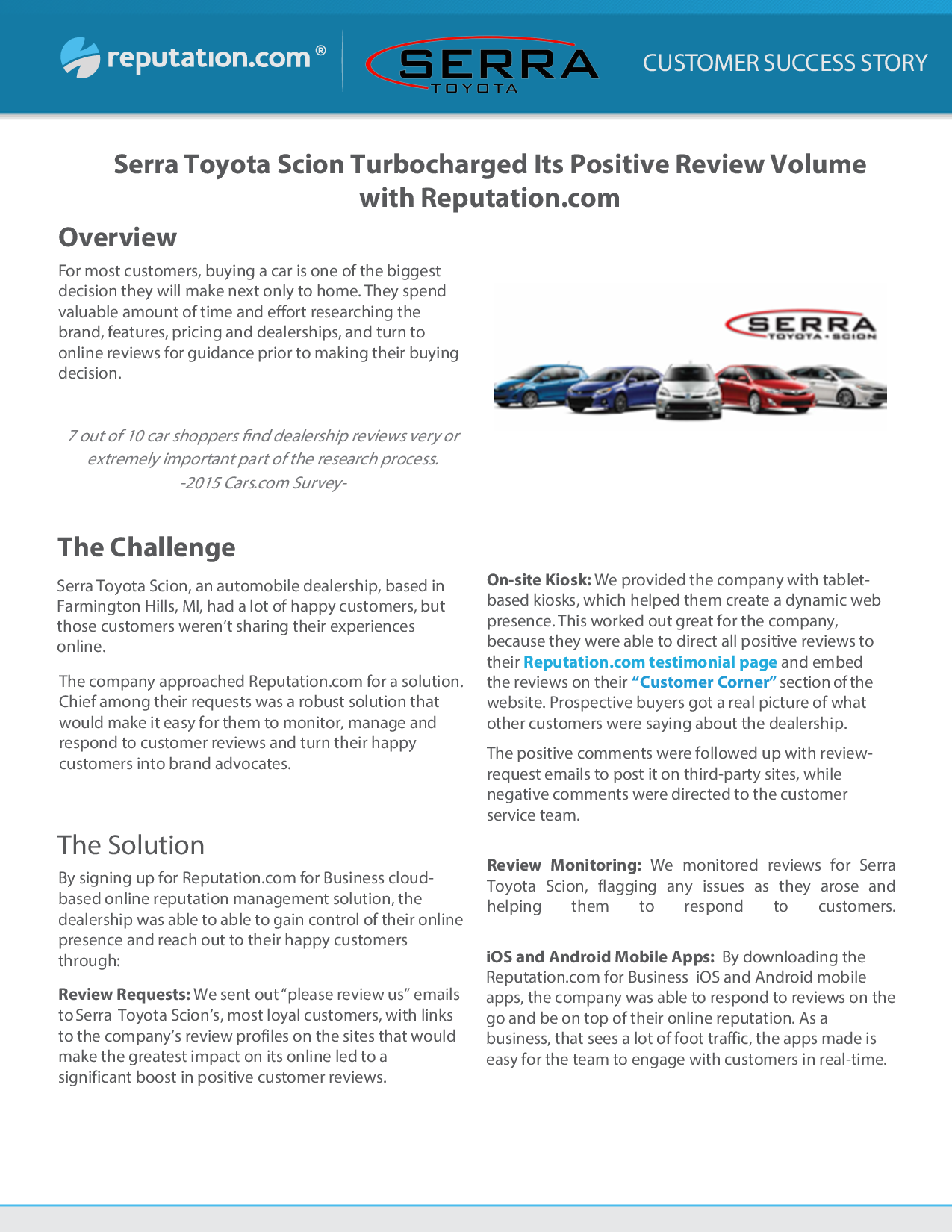 Overview Serra Toyota Scion Turbocharged Its Positive Review Volume With  Reputation.com