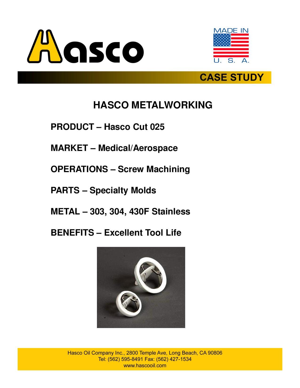 Hasco Cut 025