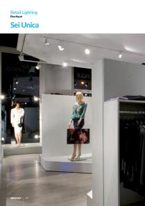 sei unica retail lighting boutique 114sei unica location zurich switzerland lighting designer wolfang kucher retail lighting boutique 115sei unica location