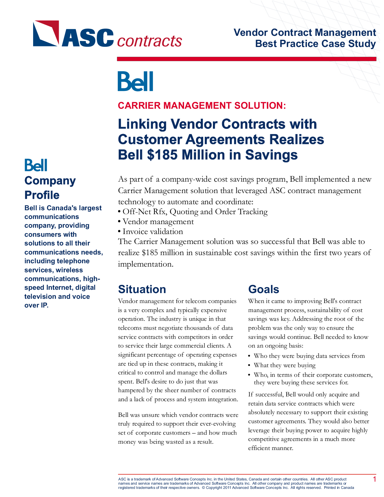 Linking Vendor Contracts With Customer Agreements Realizes B