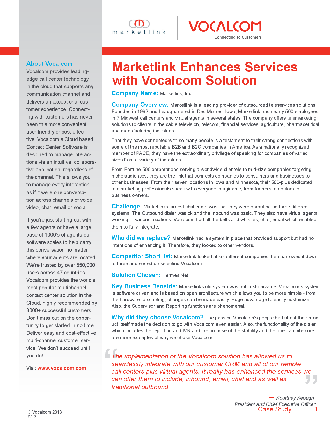 Contact Center Software – Marketlink Enhances Services with