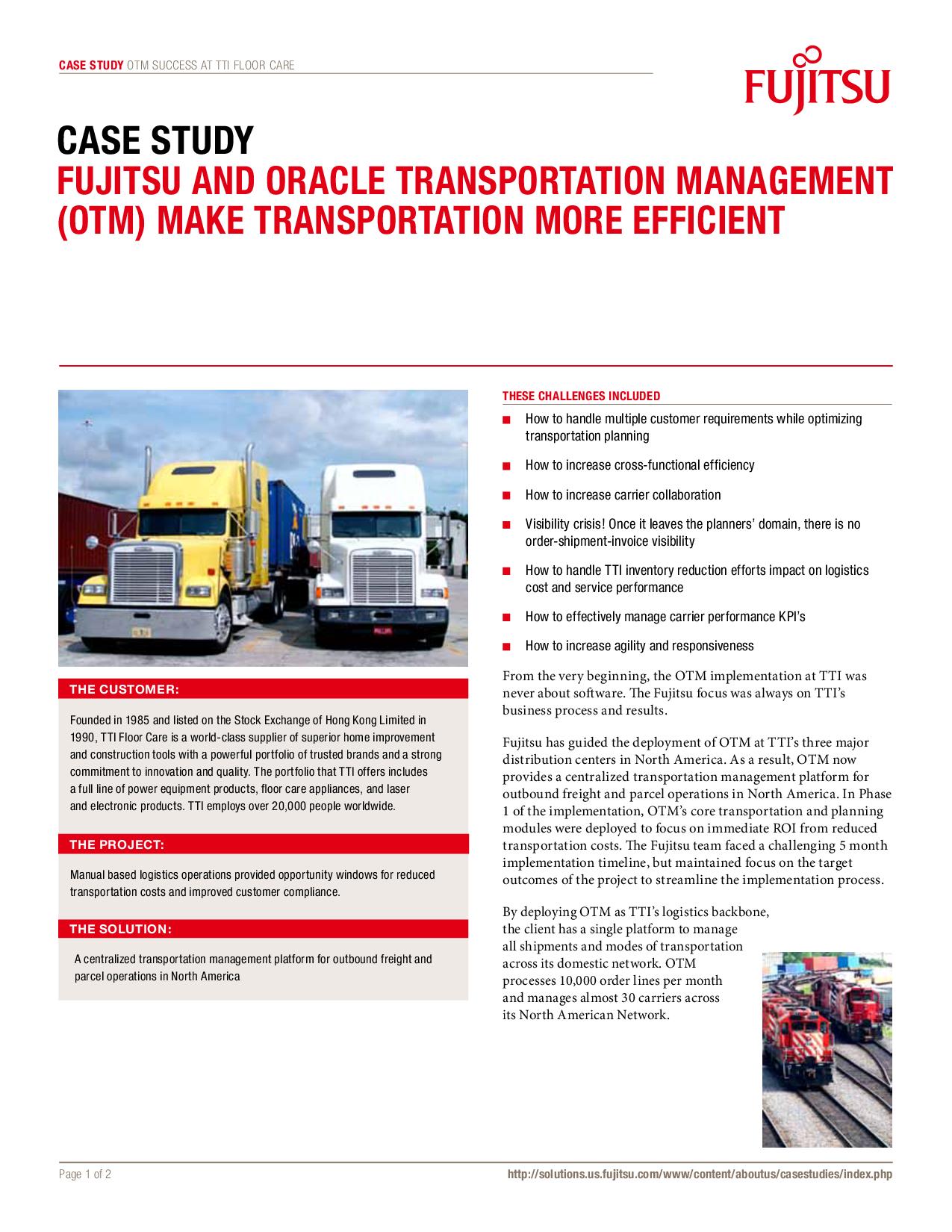 Make Transportation More Efficient
