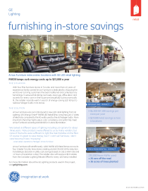 arrow furniture redecorates locations with ge led retail lighting