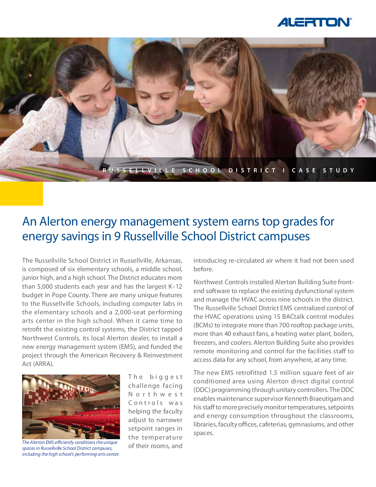 An Alerton energy management system earns top grades for energy savings in 9 Russellville School District campuses